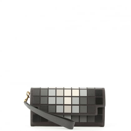 Anya Hindmarch Continental Giant Pixels Grey Leather Wallet