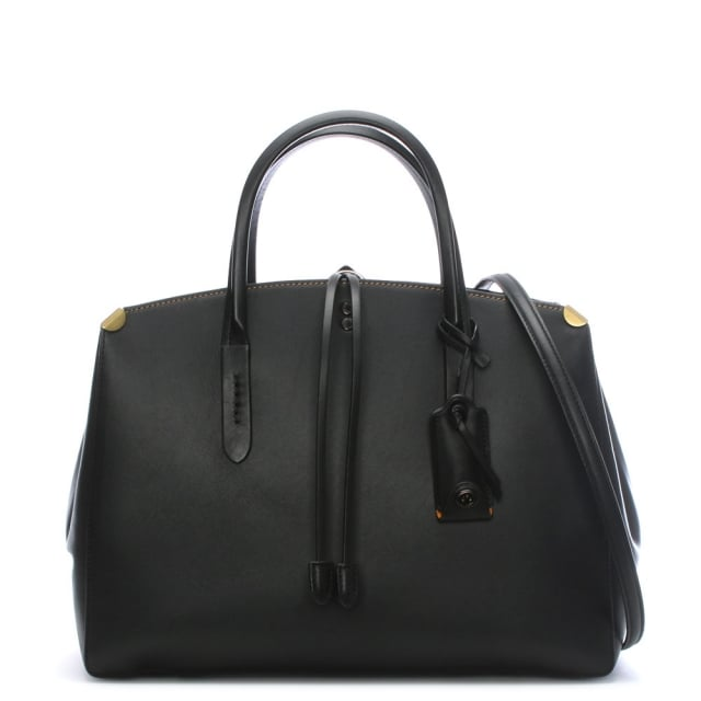 Coach Cooper Carryall Black Suede Tote Bag