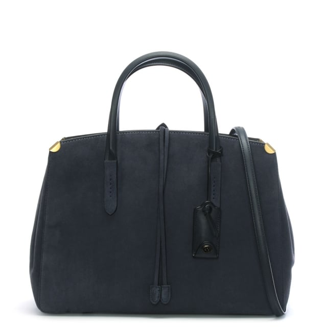 Coach Cooper Carryall Midnight Navy Suede Tote Bag