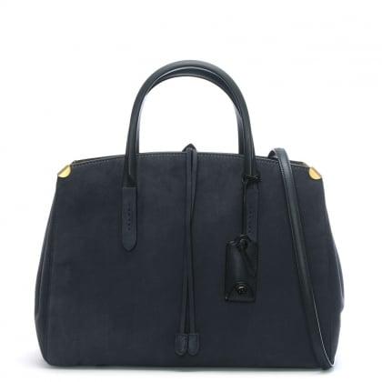 Cooper Carryall Midnight Navy Suede Tote Bag