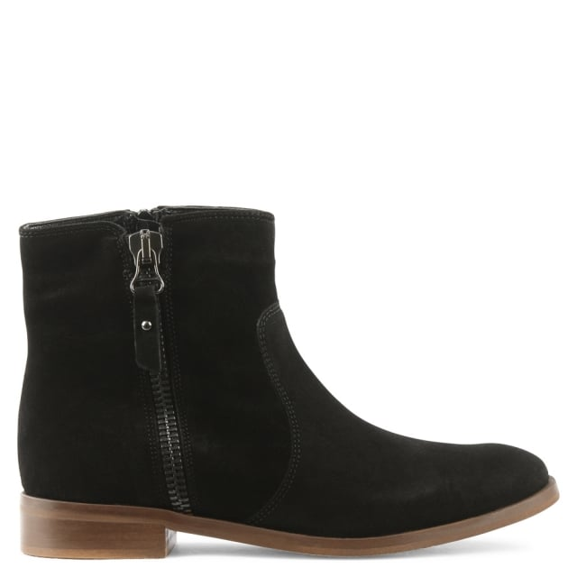 Corbella Black Suede Ankle Boot