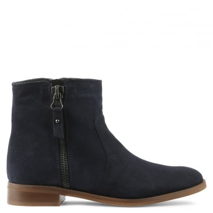 Corbella Navy Suede Ankle Boot