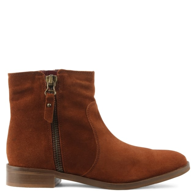Corbella Tan Suede Ankle Boot