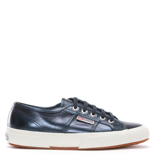 Cotmetu Blue Metallic Lace Up Trainers