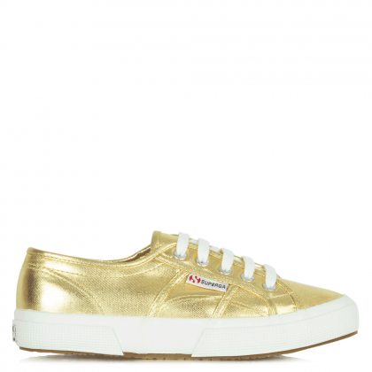 Cotmetu Gold Metallic Lace Up Trainer