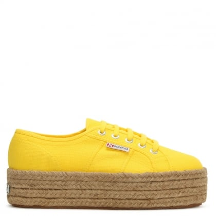 Cotropew 2790 Yellow Canvas Flatform Espadrille