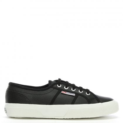 Cotu Black Leather Lace Up Trainers
