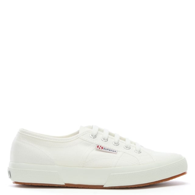 Cotu White Lace Up Trainers