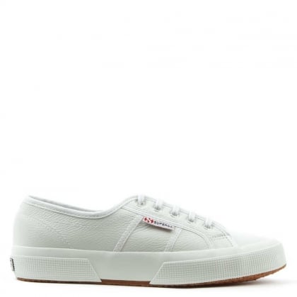 Cotu White Leather Lace Up Trainer