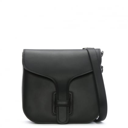 Courier Black Glovetanned Leather Satchel Bag