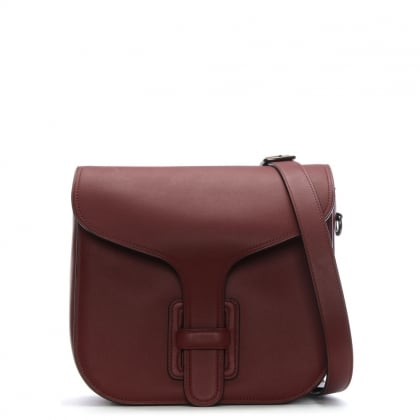 Courier Bordeaux Glovetanned Leather Satchel Bag