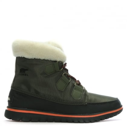 Cozy Carnival Nori & Black Lace Up Sporty Fleece Lined Boot