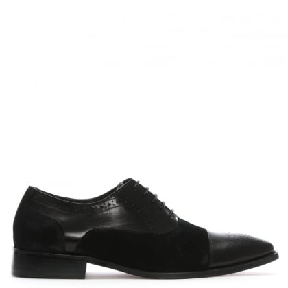 Cranmore Black Leather & Suede Brogues