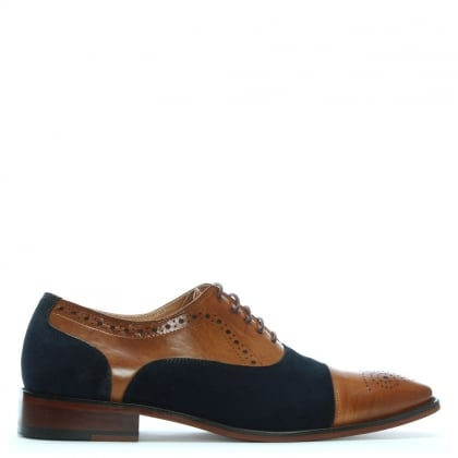 Cranmore Tan Leather & Suede Brogues