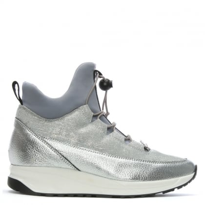 Credible Silver Metallic High Top Trainers