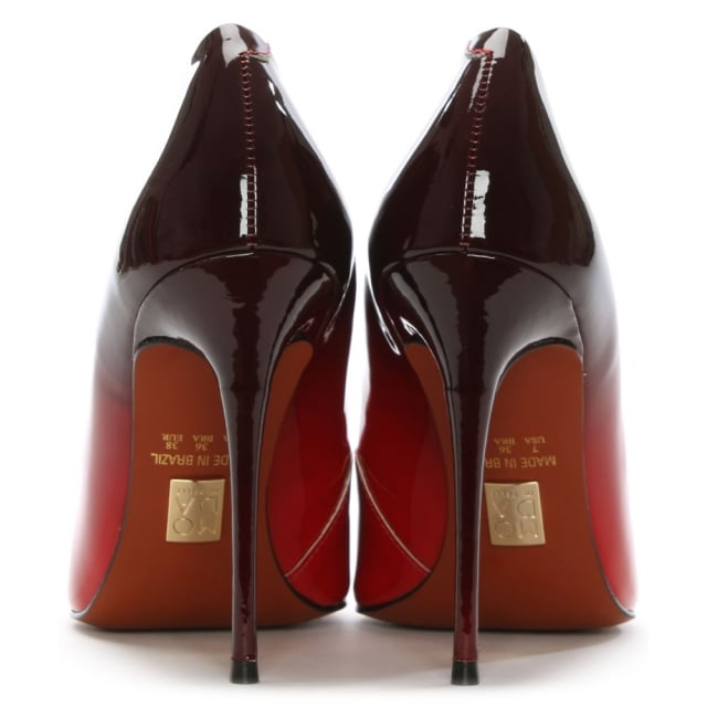 0fc363b04e25 Moda In Pelle Cristina Ombre Red Patent Court Shoe