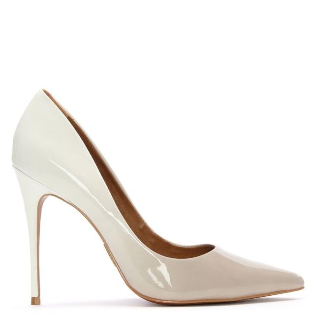cristina ombre white patent court shoe