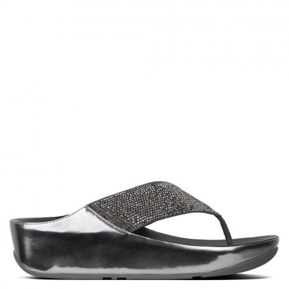 0861a9956e1e19 Crystall Pewter Metallic Toe Post Sandals. Sale