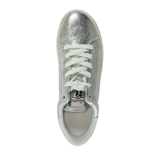 76593b9a4382 Ash Cultash Cracked Silver Leather Chunky Sole Trainer