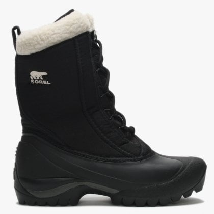 Cumberland Black PU Coated Textile Ankle Boots f9515bd8f9