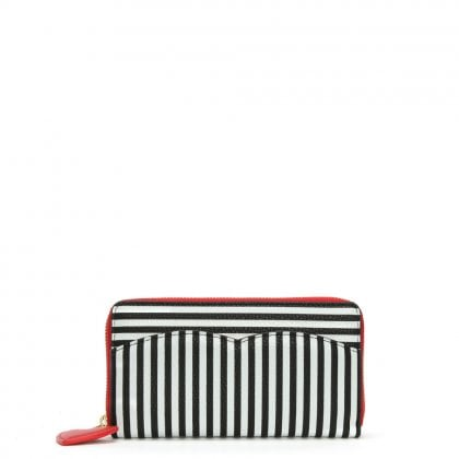 Cupid Bow Multicoloured Grainy Leather Continental Wallet