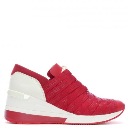 Cydney Red Webbing Trainers