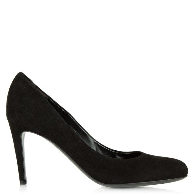 efa28bef82a Kennel   Schmenger Dacosta Black Suede Round Toe Court Shoe