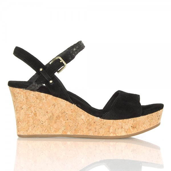 ab6e95080715 UGG® Black D Alessio Women s Wedge Sandal