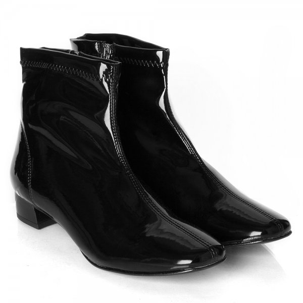 Black Patent ONEDIN Womens Ankle Boot