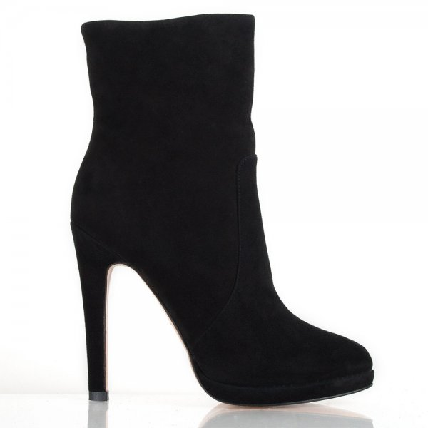 Black Suede Attract Women s High Heeled Ankle Boot 5cab52cbeddd