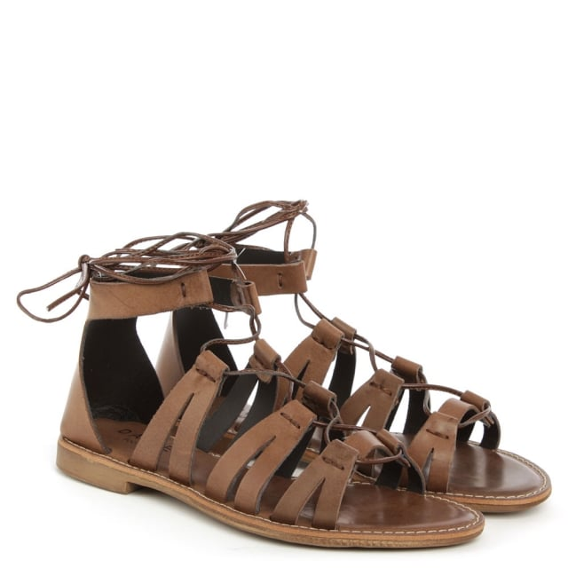 cf9bf38e3f05 Honey Brook Brown Leather Gladiator Sandal