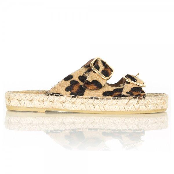 8de72b2ee83b Daniel Tosda Leopard print Womens Flat Sandal