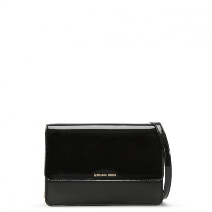 Daniela Black Patent Leather Cross-Body Bag