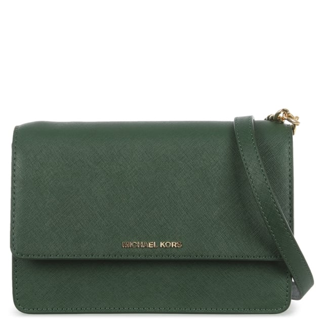 Daniela Small Moss Leather Flapover Cross-Body Bag