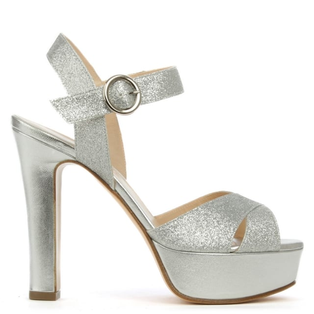 Dasher Silver Metallic Platform Sandal