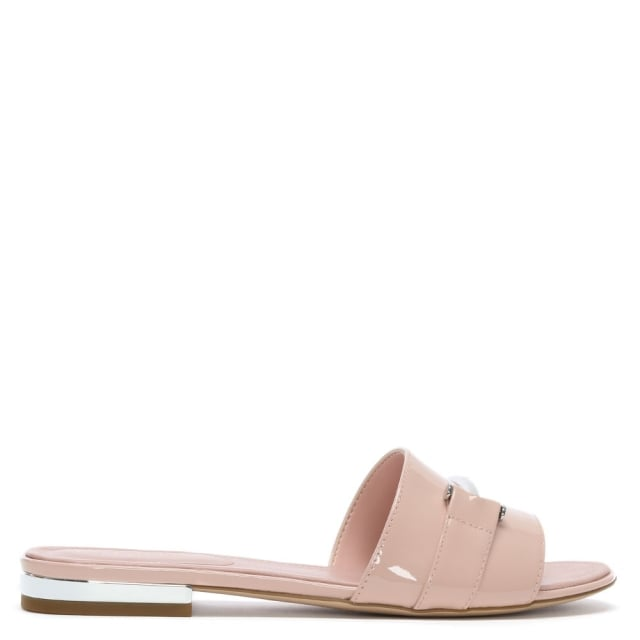 Davan Pink Patent Leather Mules