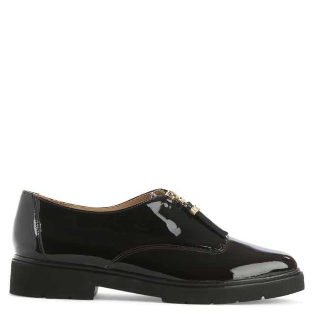 Dawson Plum Leather Zip Fastening Loafer