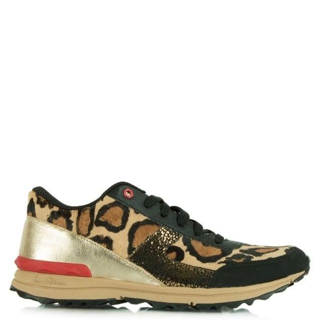 a07fb1e22b0a73 Sam Edelman Leopard Dax Lace Up Trainer