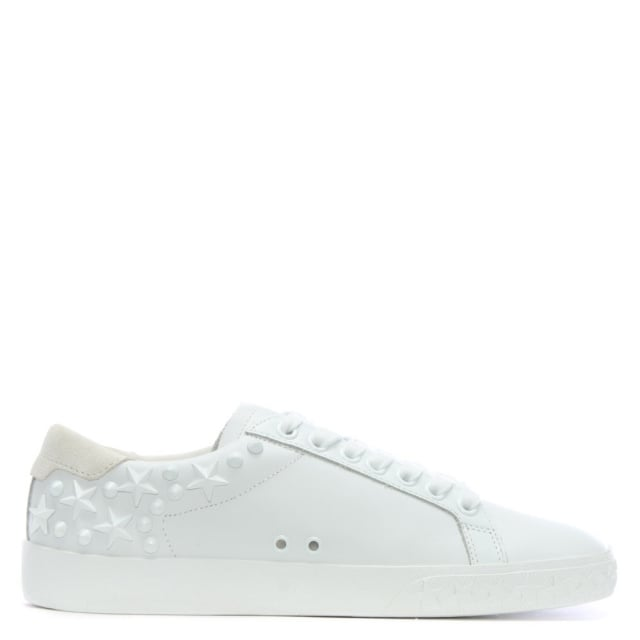 Dazed II White Leather Embellished Trainers