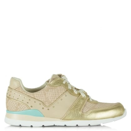 UGG Deaven Gold Leather Lace Up Trainer