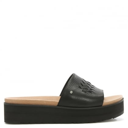 Delaney Black Leather Mule