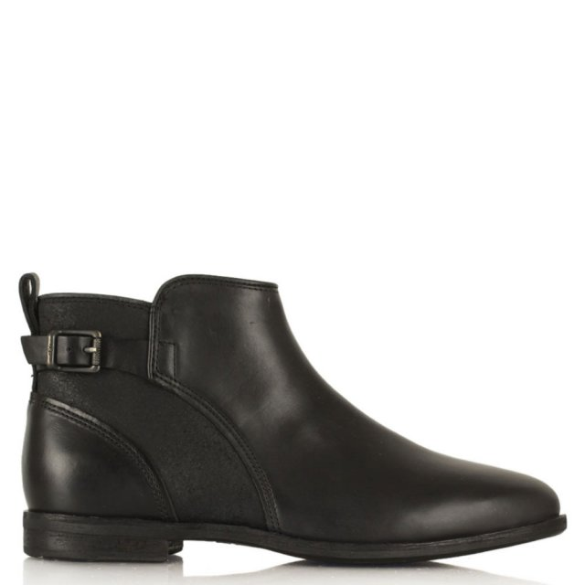 Demi Black Leather Ankle Boot