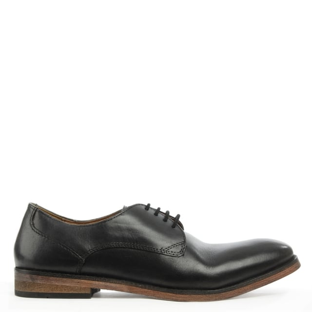 Derby Black Leather Smart Lace Up Shoe