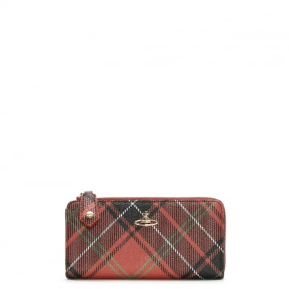 Derby II Multicoloured Tartan Print Wallet