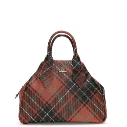 Derby II Tartan Multicoloured Coated Canvas Tote Bag