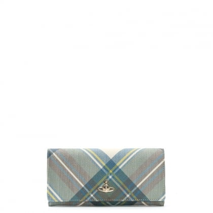 Derby Multicoloured Tartan Print Wallet