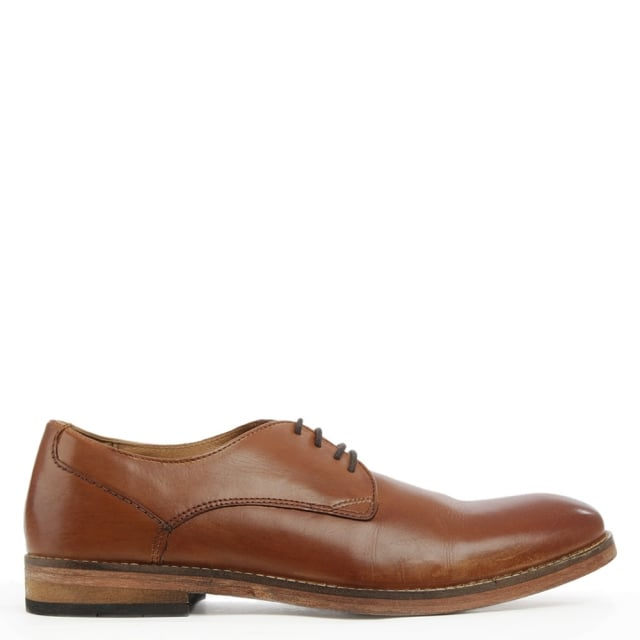 Derby Tan Leather Smart Lace Up Shoe