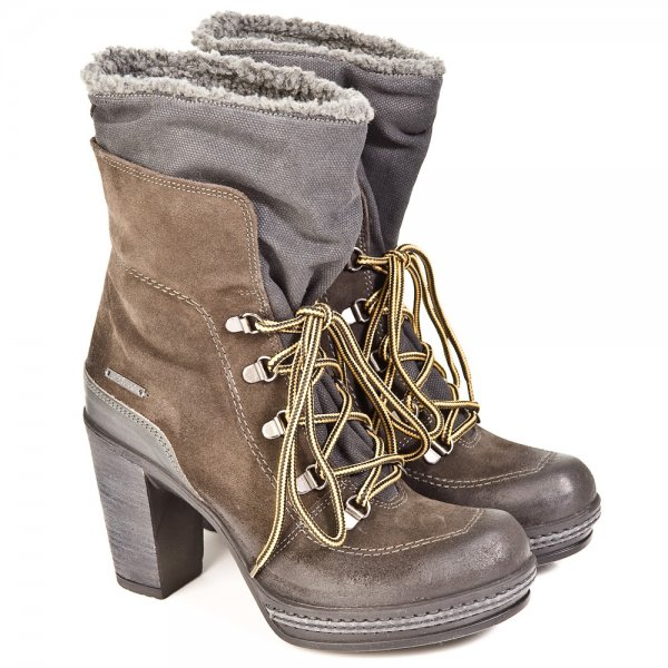 ad1d2c9614a894 Diesel Grey Charles Womens Ankle Boot - Boots from Daniel Footwear UK