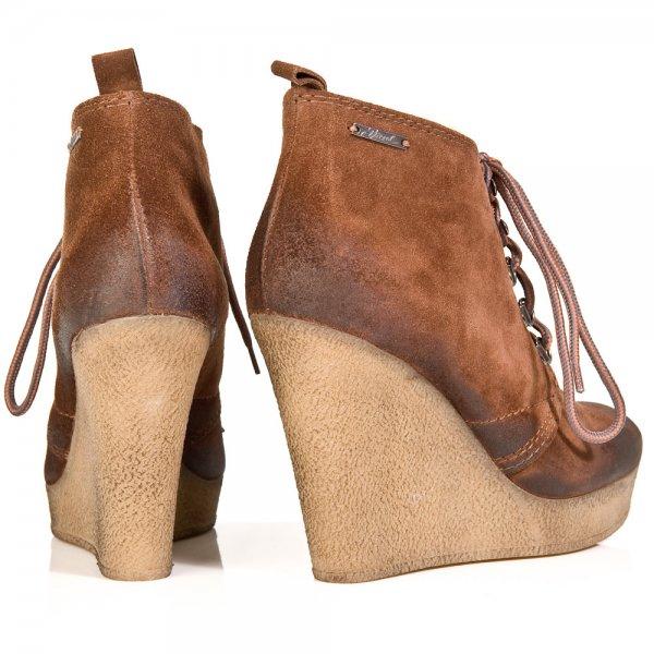 d9fd95736de994 Diesel Tan Enos Womens Wedge Ankle Boot - Boots from Daniel Footwear UK