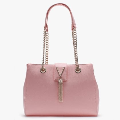 1c629b8e09 Divina Pink Pebbled Tote Bag. New In. Valentino By Mario ...